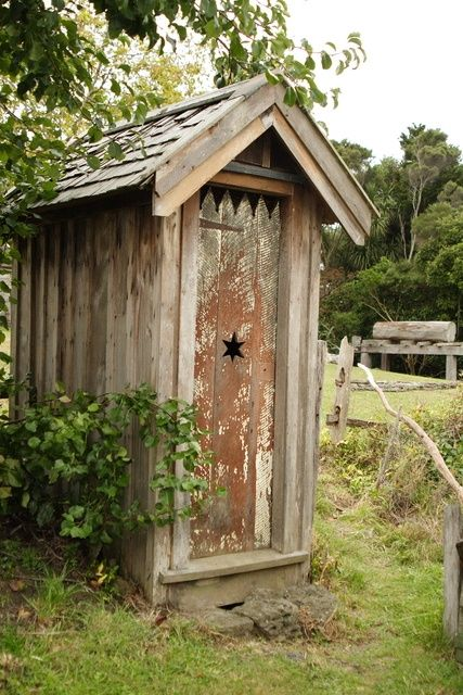 How Does An Outhouse Work In 2020 Outdoor Toilet Shed
