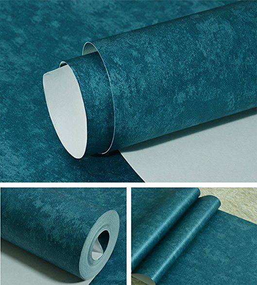 Self Adhesive Retro Solid Color Contact Paper