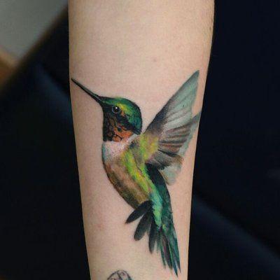 hummingbird tattoo .