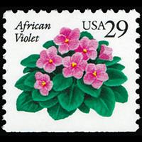 1990 29c African Violet Bklt Single