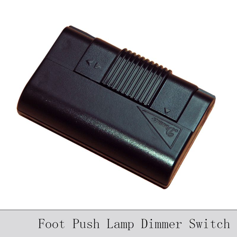 Foot Push Lamp Dimming Switch Black Transparent Floor Lamp Table Lamp Dimmer Switch Diy Lighting Line Contro Dimmer Switch Diy Lamp Dimmer Switch Dimmer Switch
