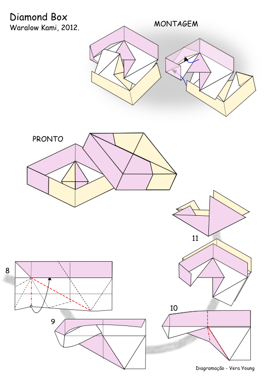 Origami Square Diamond Box