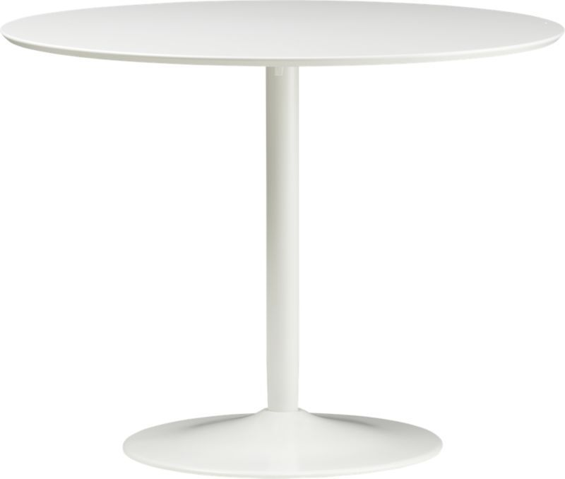 Odyssey White Dining Table White Dining Table Tables And Apartments - Cb2 tulip table