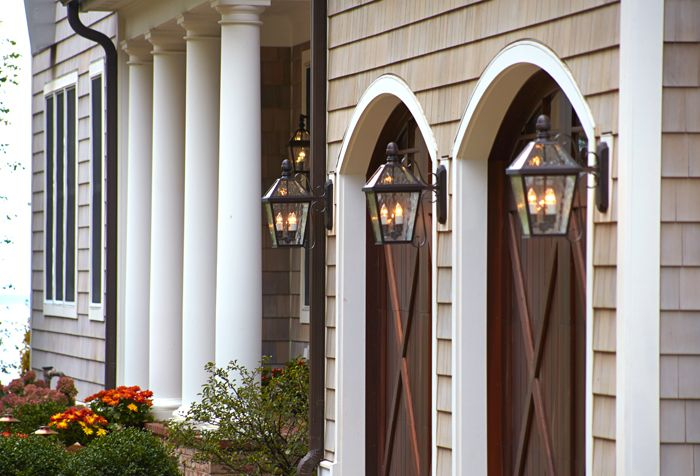 New orleans style wall mount lanterns view of the side entry and london lantern wall mount garage lights traditional outdoor wall lights and sconces mozeypictures Gallery