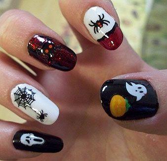 Decoración De Uñas Para Halloween Belleza Ongles Noel