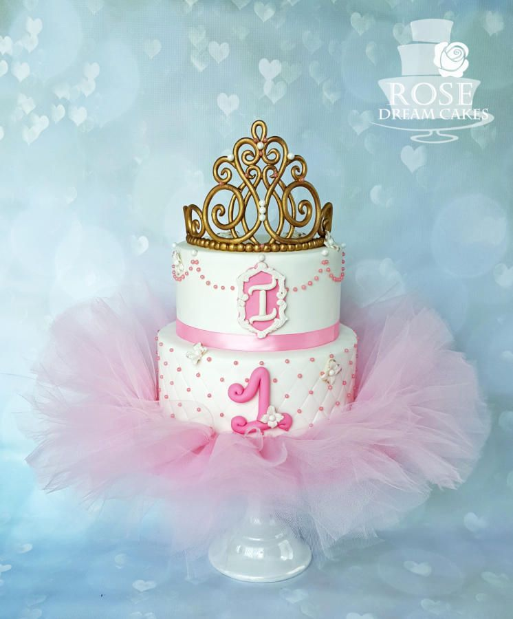 Sensational Tiara Tutu Cake Cake By Rose Dream Cakes Tutu Cakes Tutu Personalised Birthday Cards Akebfashionlily Jamesorg