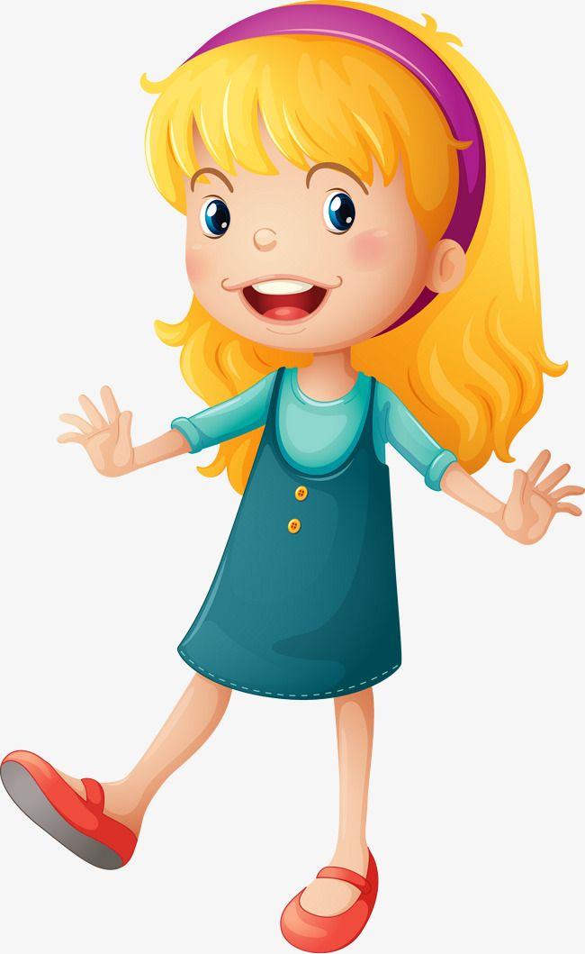 سعيدة فتاة الكرتون ناقلات المواد, سعيد, كرتون, فتاة PNG ...