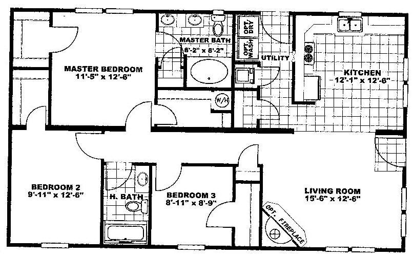 1100 Sq Ft House Plans Nsc28443a 1158 Sq Ft Floor Plans House Plans 3 Bedroom House Plans