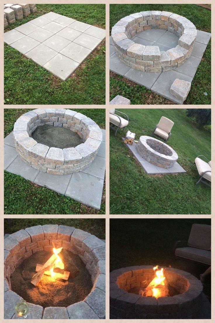 Diy Fire Pit So Einfach Dauert Nur Eine Stunde Gartengestaltung Ideen Hinterhof Garten Diy Hinterhof