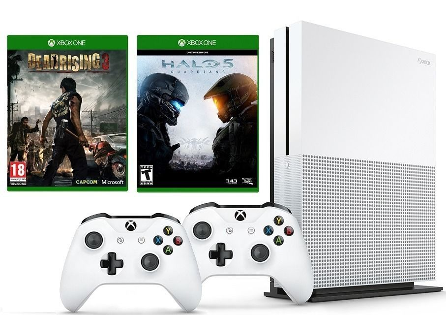Xbox One S 1TB Console bundle - Halo 5, Dead Rising 3, Extra