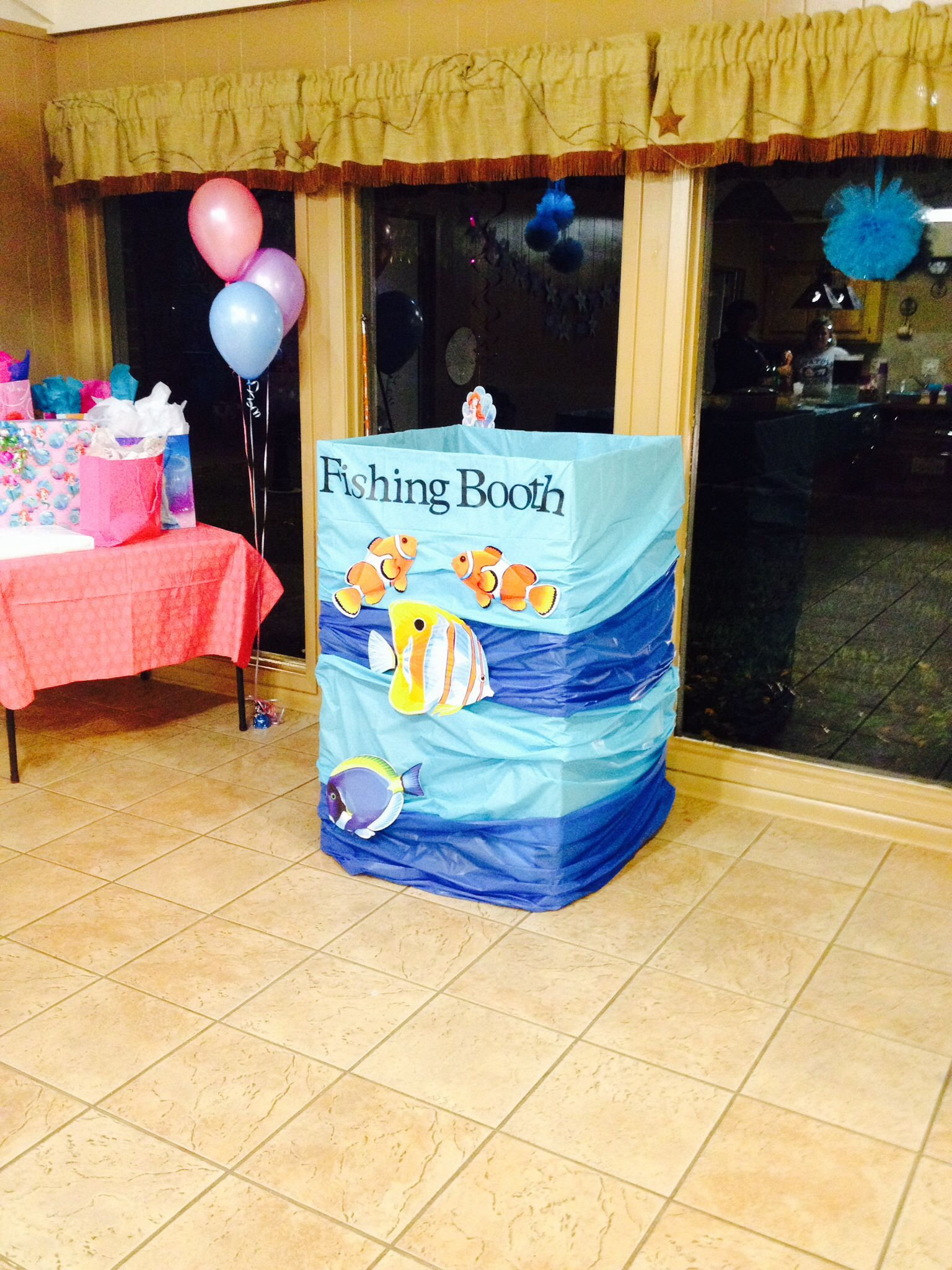 fishing booth | Stuff I've made with styrofoam... | Pinterest ...