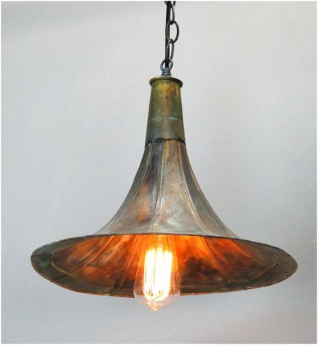Old Fashioned Gramophone Antique Replica Pendant Light Fixture