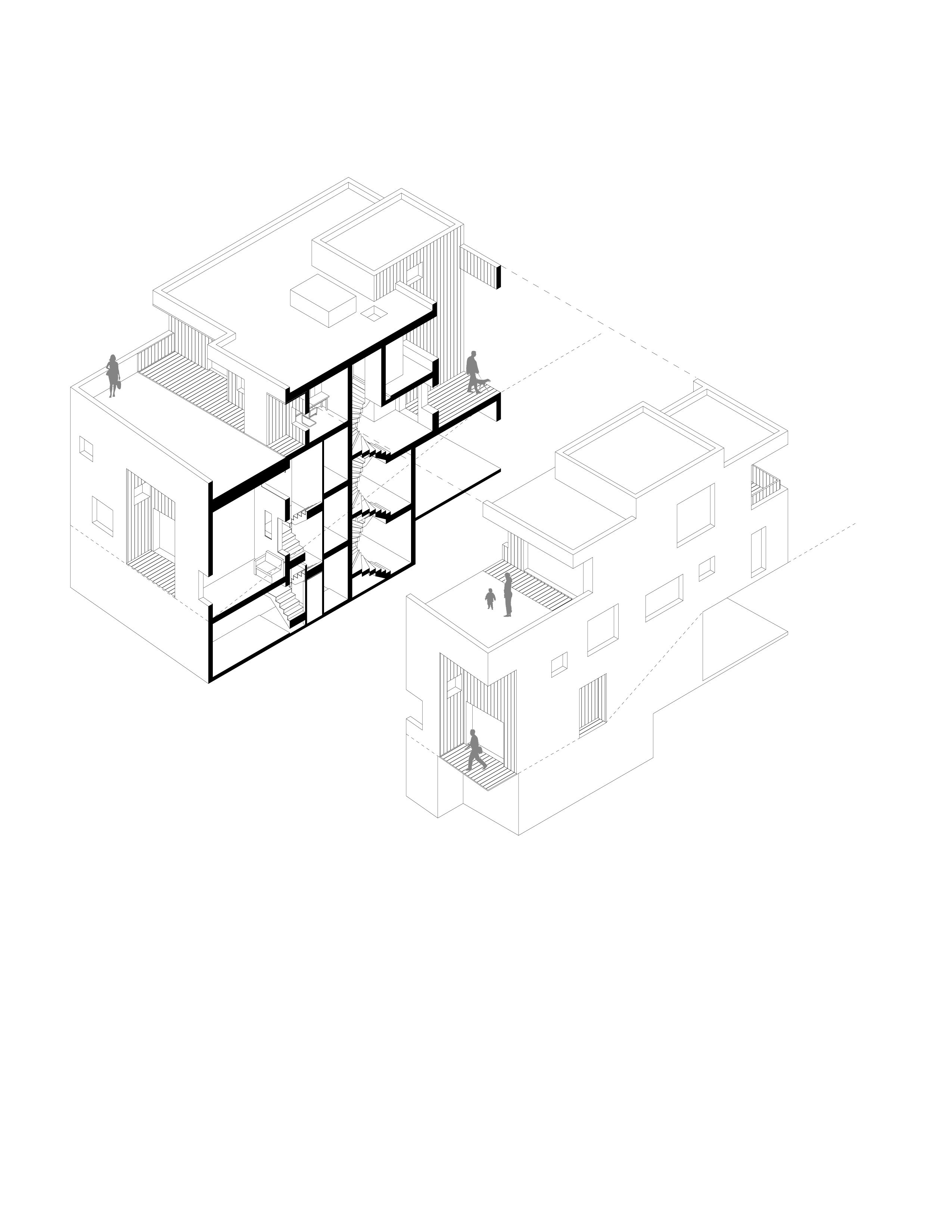 Cubic Housing Housing Typology Lot Office For