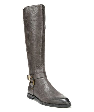Another great find on #zulily! Gray Vantage Leather Boot #zulilyfinds