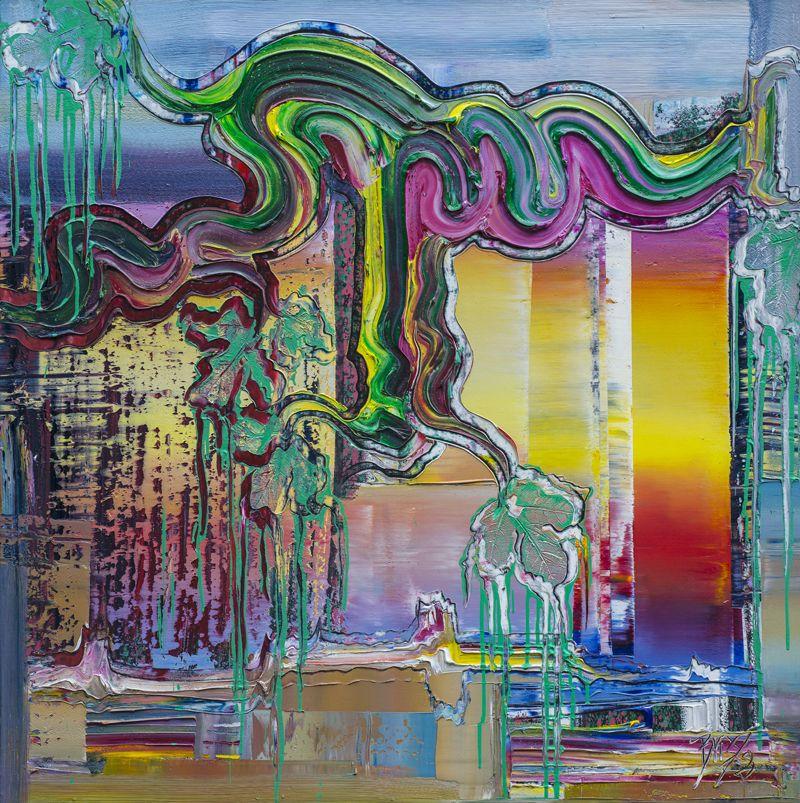 brixy horizon moderne kunst 2018 100x100 cm oil canvas gemalde zeitgenossische künstler portrait