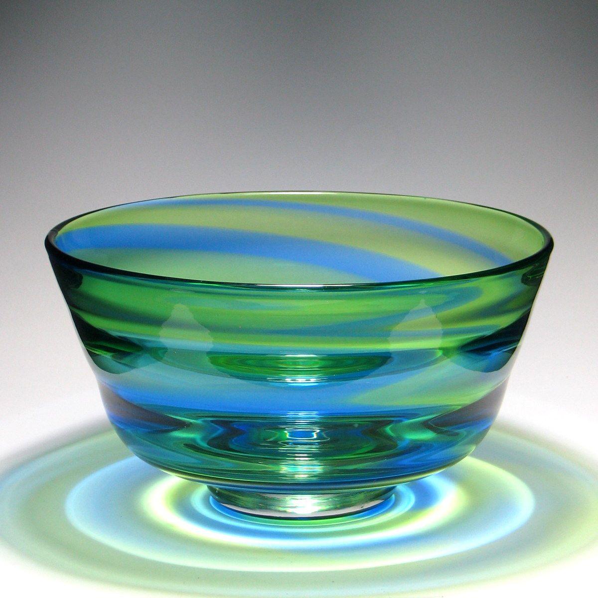 Large Stevens Williams Rainbow Glass Bowl Glass Rainbow
