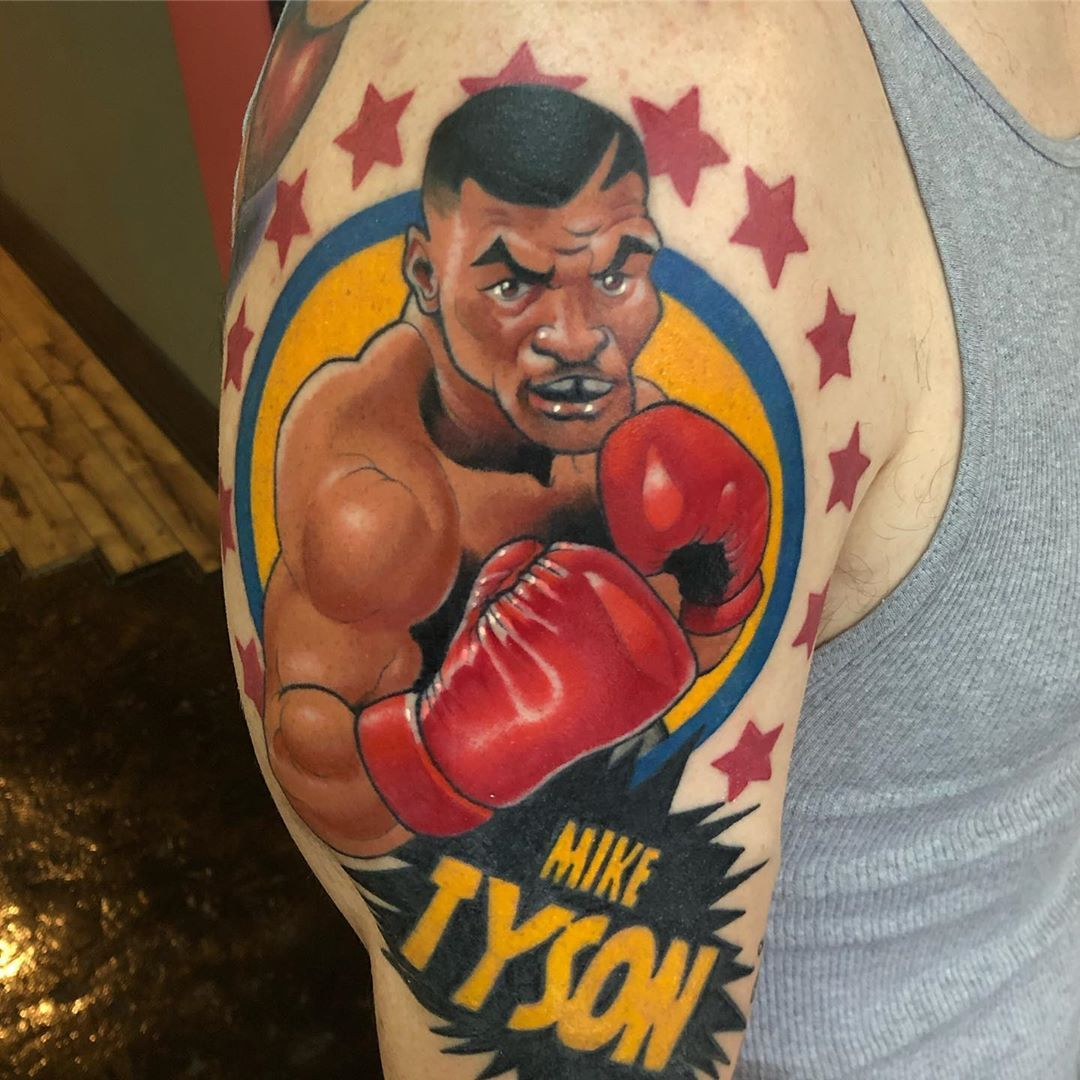 Iron Mike Tattoo . black13tattoo miketyson ironmike