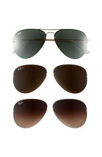Ray-Ban 'Light Ray Large - Interchangeable Lens Box Set' Aviator Sunglasses | Nordstrom - StyleSays