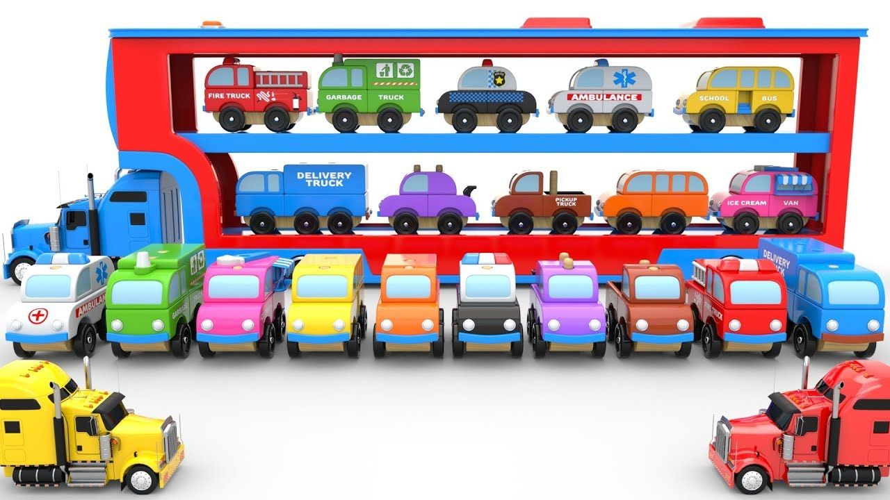 Toy Car Transporter Truck Carrying Toy Cars For Kids Toy Cars For Kids Toy Car Childcare