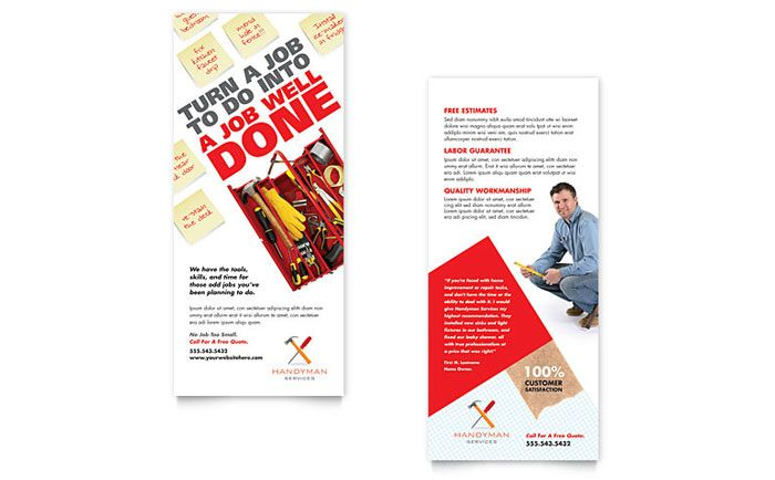 Handyman Services Rack Card Template Design By Stocklayouts