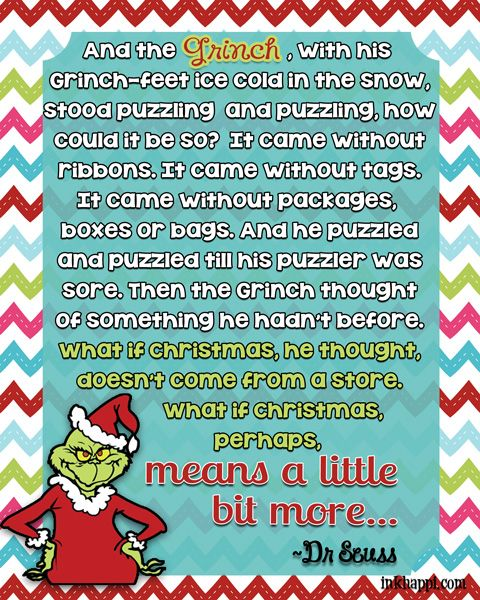 Christmas Movie Quotes! {free printables | Free printables, Grinch ...