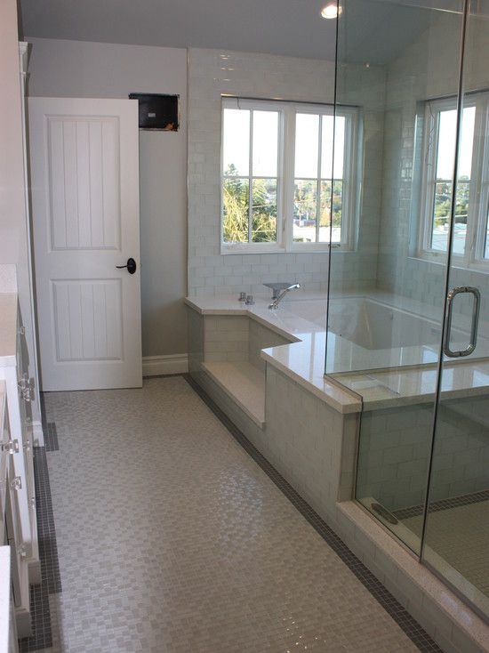 Step Down Roman Tub Shower Combination Design Pictures