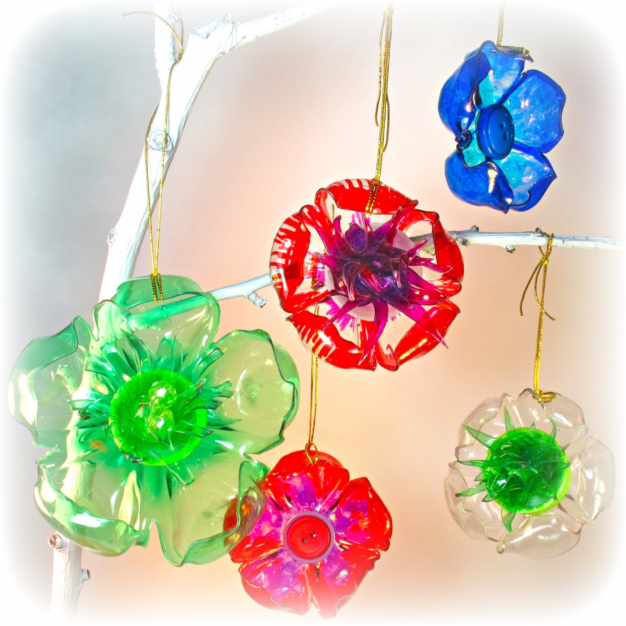 Diy Lamp Made Out Of Recycled Plastic Bottles And Glitter Paper Crafts Ideas Best Waste Transformed To Lovely
