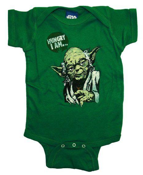 7f130b1f6 Amazon.com  Star Wars Yoda Hungry I Am Funny Movie Baby Creeper ...