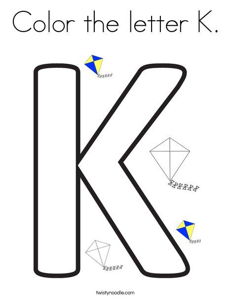 Color The Letter K Coloring Page Lettering Cool Lettering Learning Letters Preschool