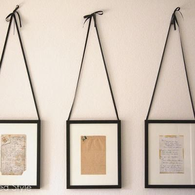 i am loving this idea. frame an old family recipe and use it as
