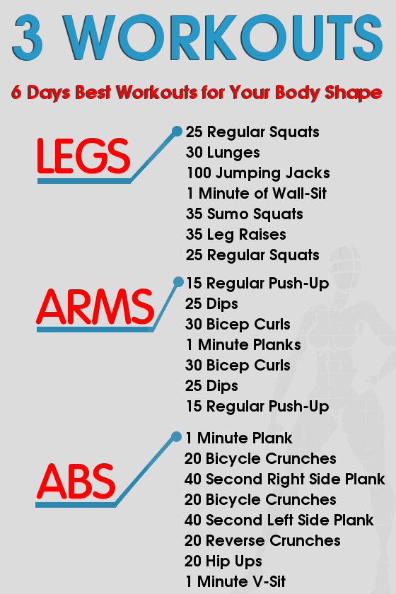 6 Days Workout Plan For Perfect Body