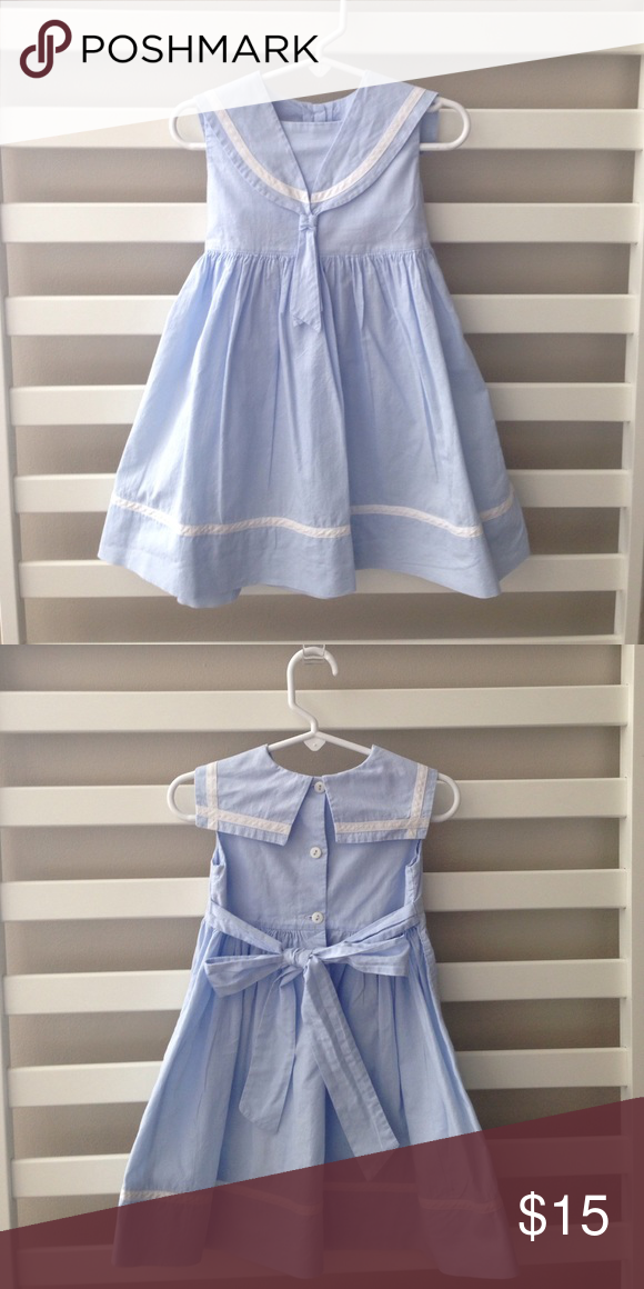 Strasburg 18m Light Blue Sailor Dress Sailor Dress Light Blue And