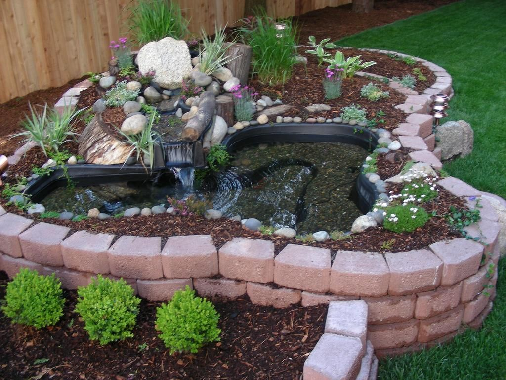 Above ground turtle ponds for backyards bing images for Raised koi pond ideas