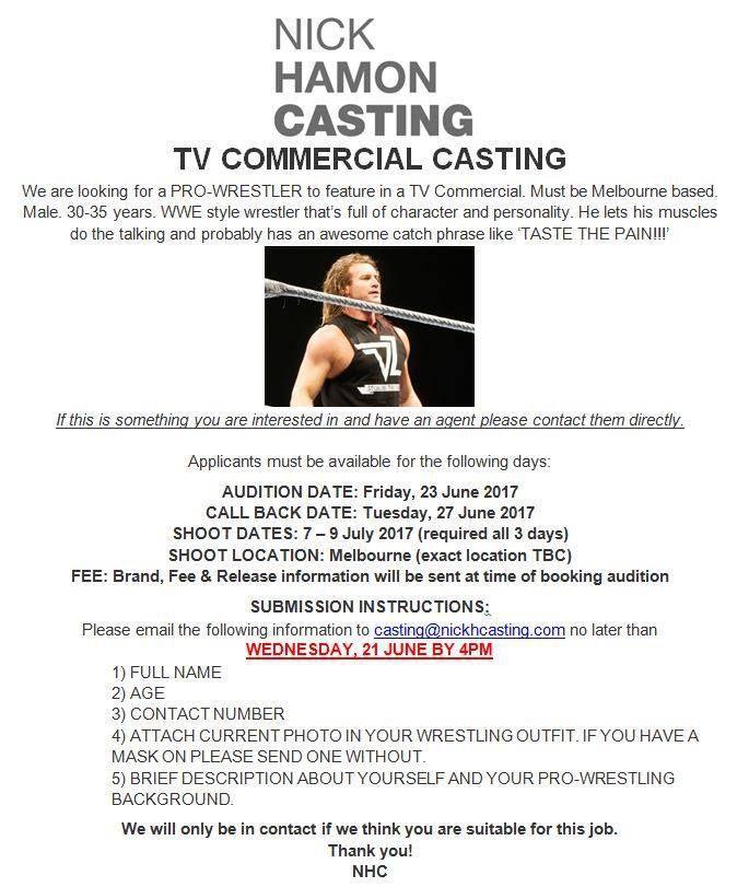 Commercial casting calls