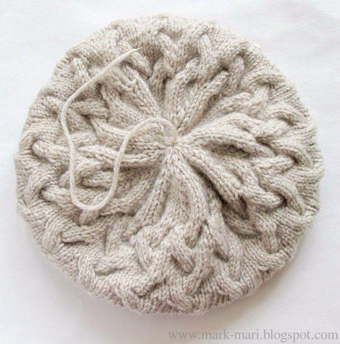 Объемные шапки спицами для женщин со схемами и описанием ...