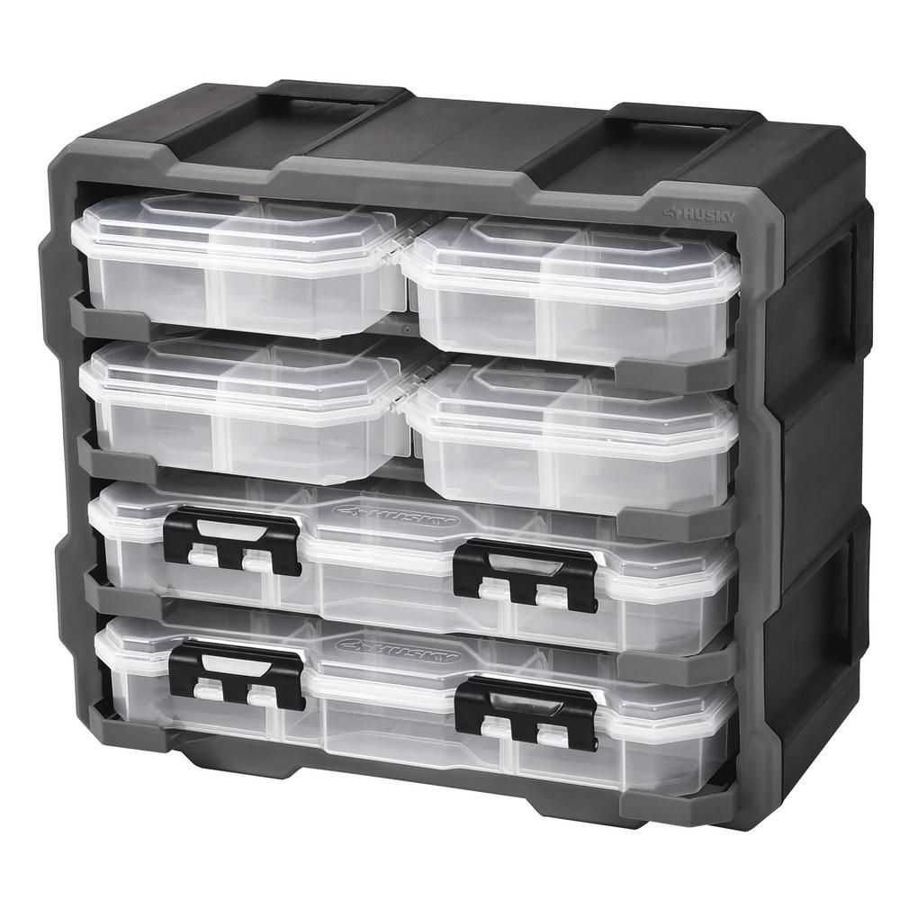 Husky 38 Compartment Rack With 6 Small Parts Organizer 2019 021