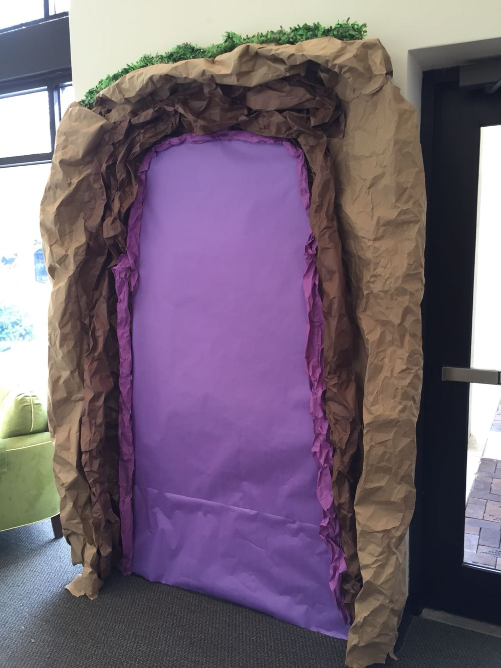 "Our Cave Quest volunteer sign-up ""cave""...will add sign up sheets and be ready to go spelunking!"