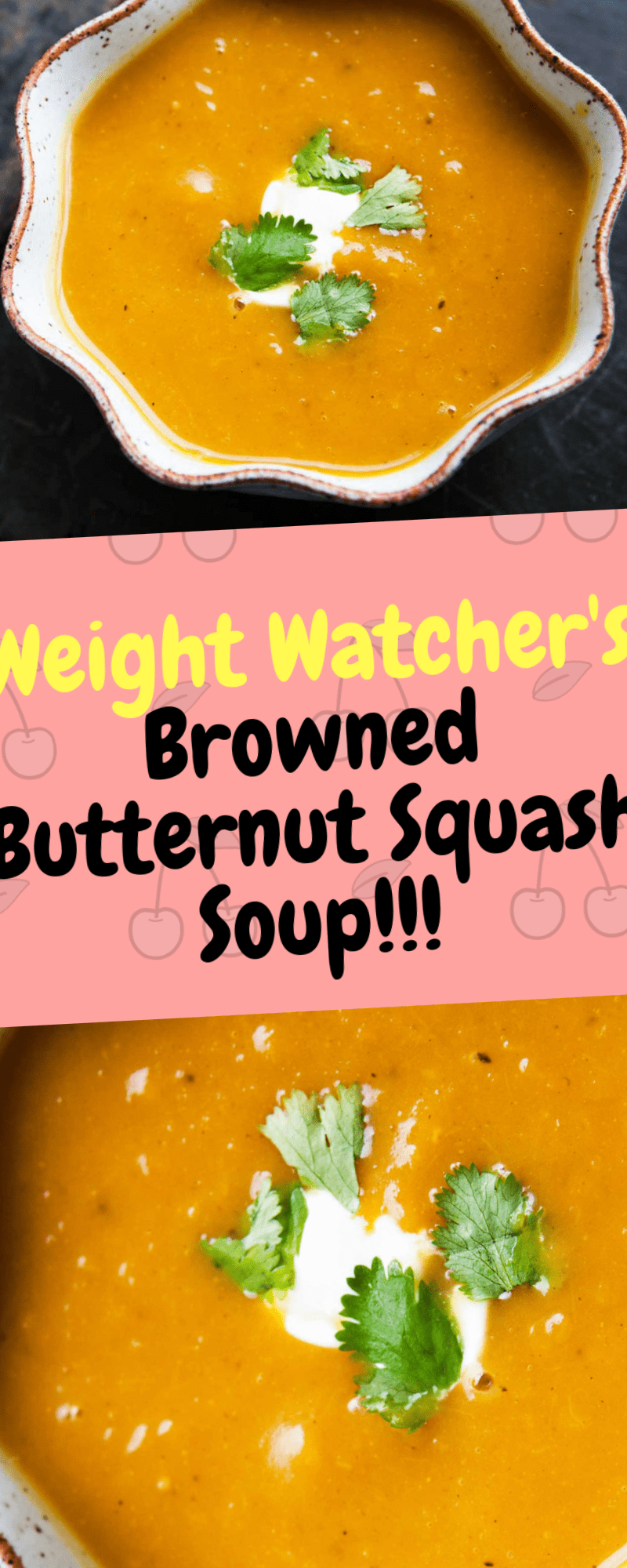 Makes 6 servings | 2 smart points Serving size: 1 | Calories: 115 | Fat: 6 | Saturated fat: 4 | Carbohydrates: 16 | Sugar: 5 | Fiber: 4 | Protein: 1 It's been really cold outside and when it gets cold out, all I want is some... Continue Reading → #butternutsquashsoup