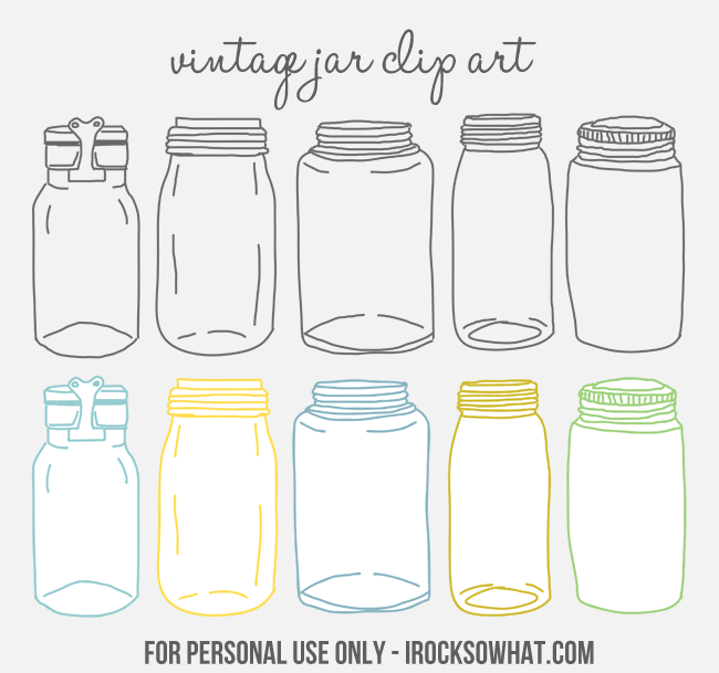 Free Vintage Jar Clip Art by IROCKSOWHAT.com | Creative stuff ...