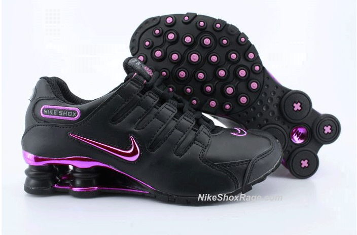 Womens Black and Hot Pink Nike Shox NZ with Pink Plating...size 10 ...