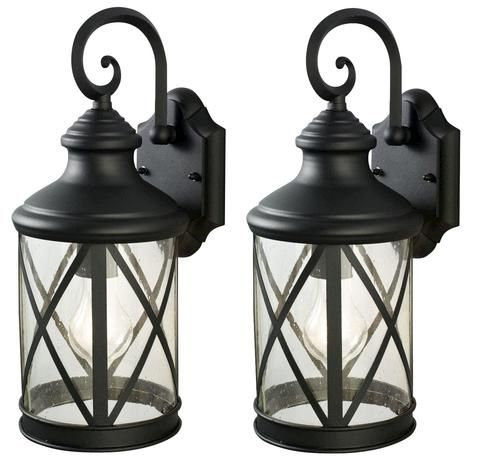 Sonoma 1 Light 16 Black Twin Pack Outdoor Wall Light At Menards 35 00 Exterior Light Fixtures Exterior Lighting House Lighting Outdoor