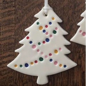 Christmas decorations hand made from ceramic & glass - Biome Eco Stores -  Kylie Johnson Ceramic Christmas Decoration – Tree 'Party Lights'  - #biome #ceramic #ceramicart #ceramicpottery #christmas #decorations #eco #glass #Hand #handmadeceramics #stores