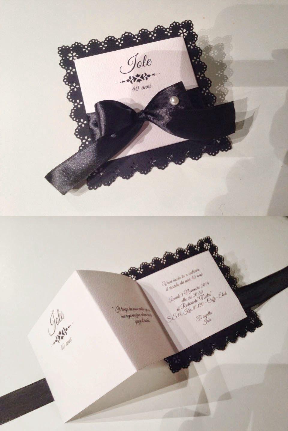 Partecipazioni Matrimonio Anni 30.Compleanno In Bianco E Nero Invito Per I 40 Anni Inviti Di