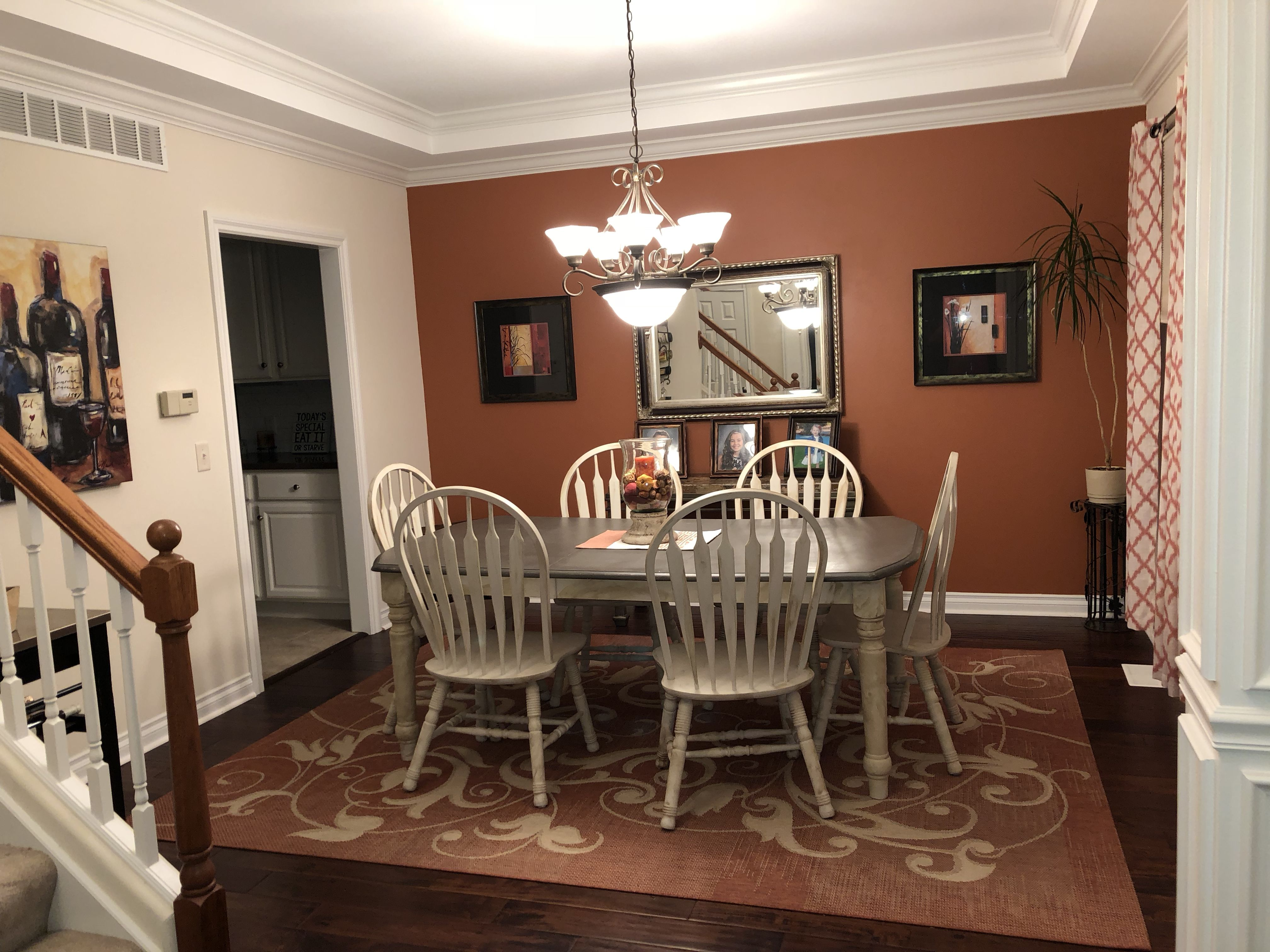 Cavern Clay Accent Wall Sherwin Williams Living Room Paint Color Palette Living Room Room Paint Colors