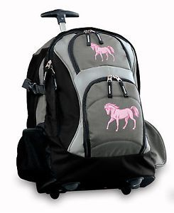 Cute-HORSE-Rolling-Backpack-BEST-BAGS-with-Wheels-WHEELED-Carry-On ...