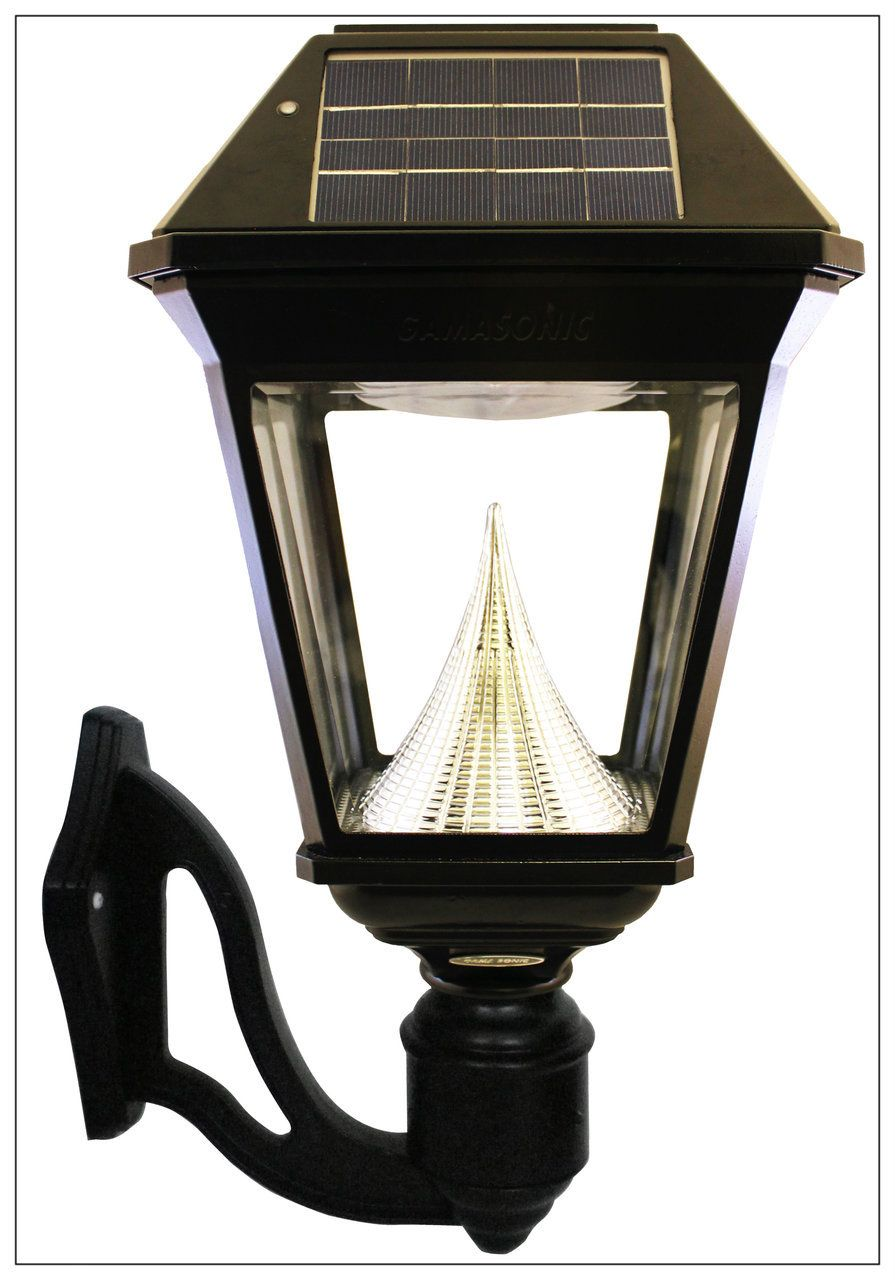 Solar Wall Mounted Coach Lantern Light Bright Gama Sonic Imperial