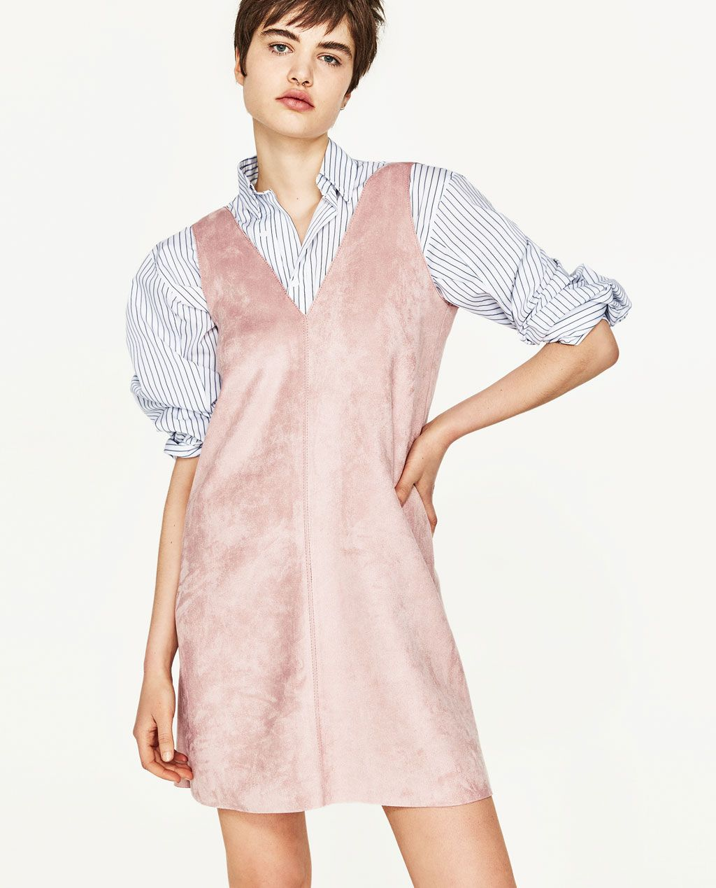 061bfb0b SUEDE EFFECT DRESS-View All-DRESSES-WOMAN-SALE | ZARA United States ...