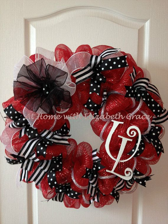 University of Louisville Deco Mesh Wreath Love this Pinterest