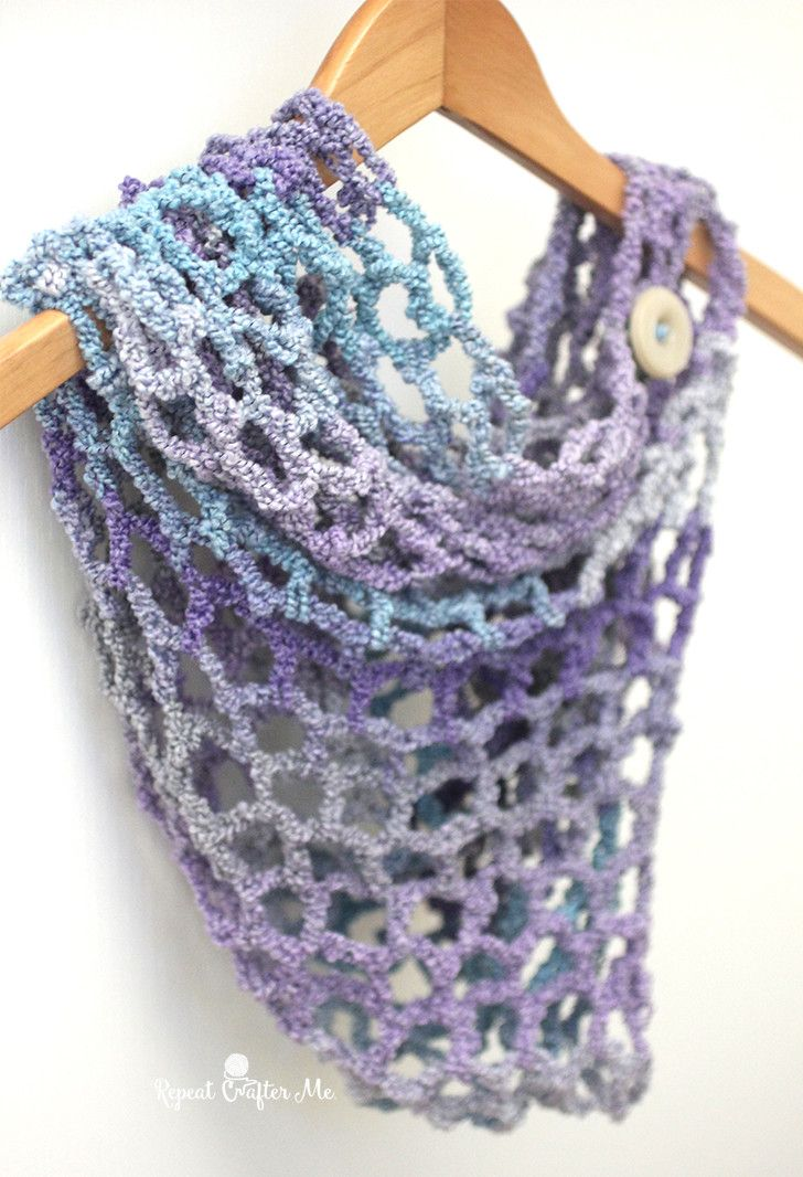 One Skein Cowl With Lion Brand Textures Yarn Crochet Patterns