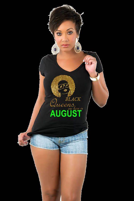 Glitter Vinyl Black Queens Are Born In July August September